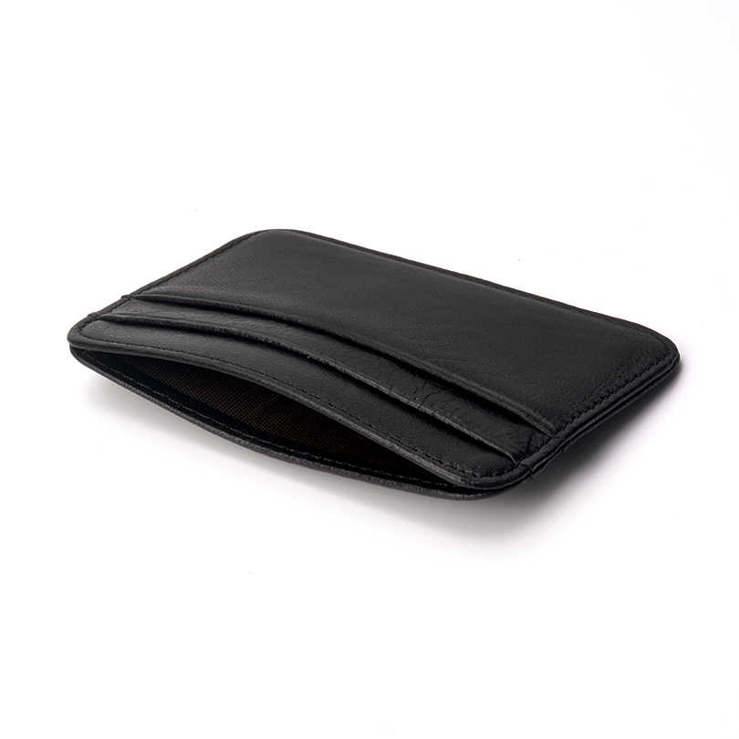 Genuine Leather Card Wallet Ultral-thin slim sheepskin wallet men card purse small mini wallet