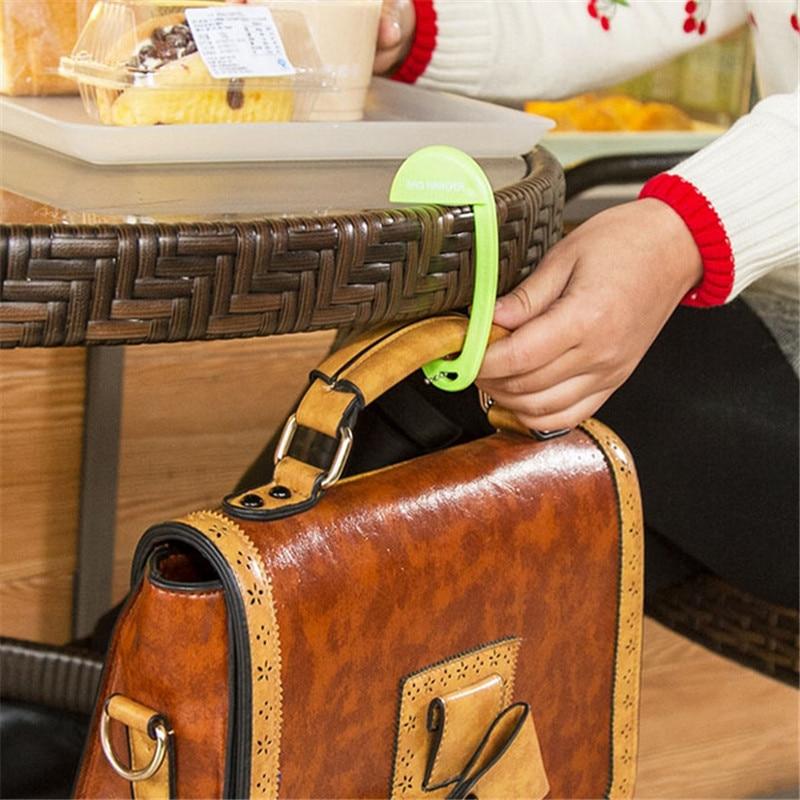 New 2017 Portable Bag Hooks Exquisite Plastic Desk Chair Handbag Tote Hook Bags Hanger Holder 10 5 5cm Gi872427 In Rails From Home Garden On