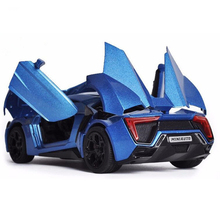 Collectible Model Car Toys 1/32 Scale Alloy Lykan Hypersport Fast and Furious Electronic Diecast Cars for Boys Kids