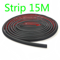 15M D shape Big and small CarTruck Motor Door Rubber Seal Strip Wheatherstrip Sealing Hollow Universal Rubber Door Sealing Trim