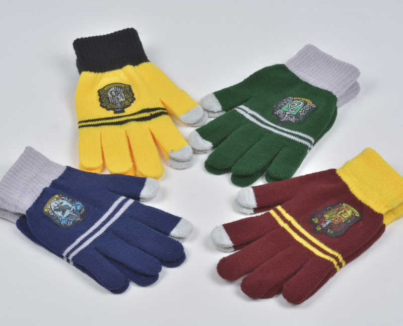 Cosplay Harry one Potter College Gloves Gryffindor Gloves Touch Screen Gloves Winter Warm Gloves Cartoon Halloween Gift Birthday