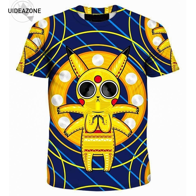 eace2a48c6ef Acid Pikachu T Shirt T-shirt Men Women 2018 Cute Cartoon Anime Funny Tshirt  Camisetas Hombre 3D All Over Printed Tops Tees
