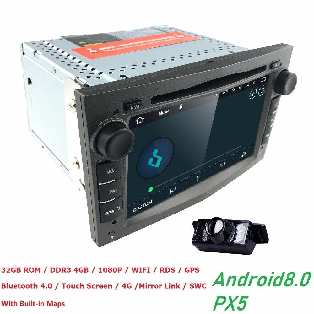 Android 8,0 Octa Core радио автомобиль мультимедийный плеер 32 ГБ + 4 ГБ для Opel Astra Corsa Zafira Vivaro Meriva vectra с gps Navi WI FI