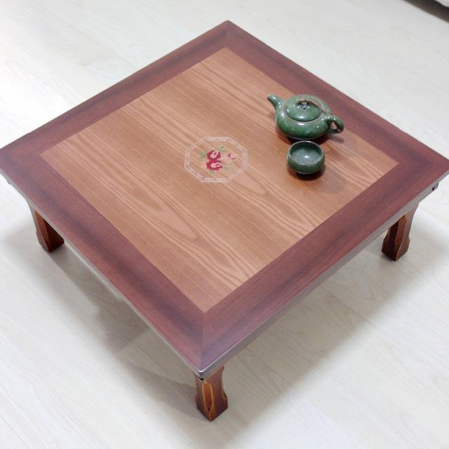 Mobiliário Antigo em madeira Pernas de Mesa Dobrável Coreano Praça 60 cm Asiático Mobiliário Doméstico Sala de Baixo Coreano Mesa Antiga De Madeira