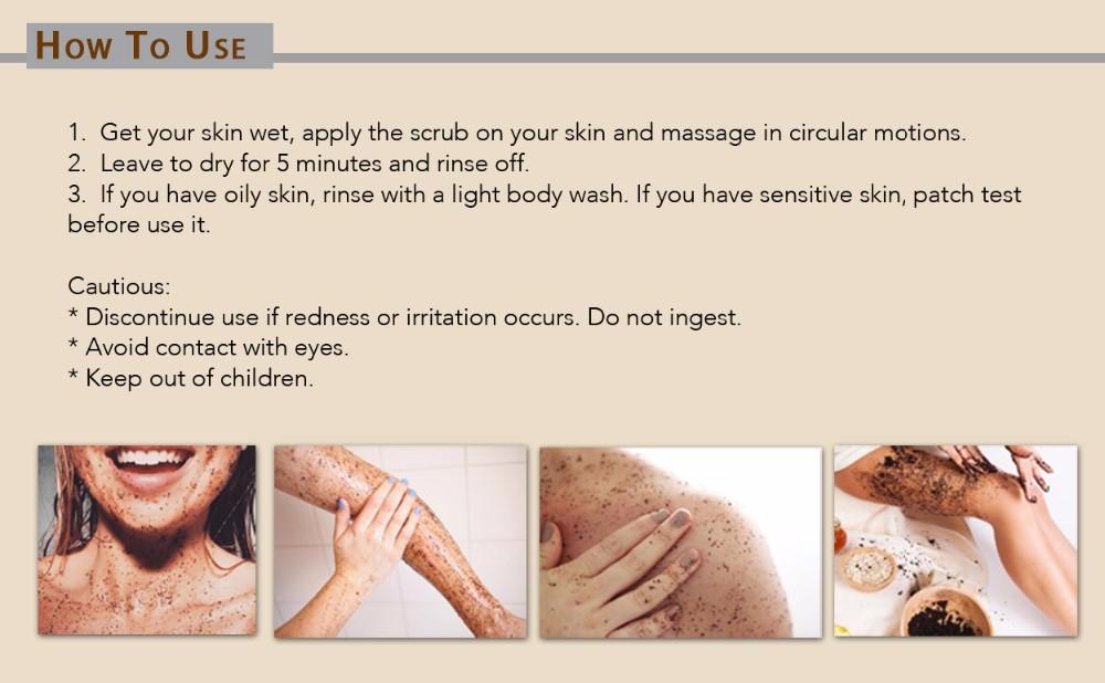 4-coffee body scrub-how to use