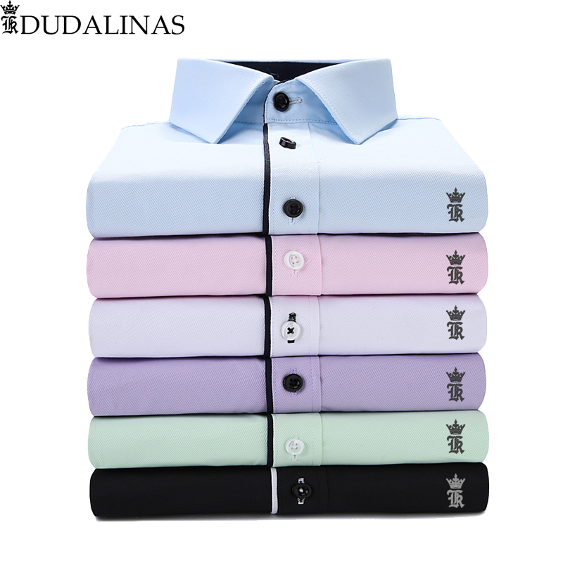 Dudalinas Shirts Men Casual Shirt Men Sergio K Dress Shirt Casual Long Sleeved Camisa Masculina Social Chemise Homme Reserved