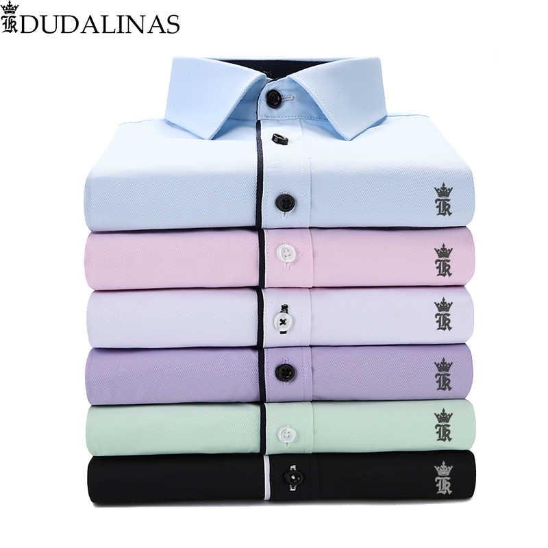 Dudalinas Shirts Männer Casual Shirt Männer Sergio K Kleid Hemd Beiläufige Lange Ärmeln Camisa Masculina Sozialen Chemise Homme Vorbehalten