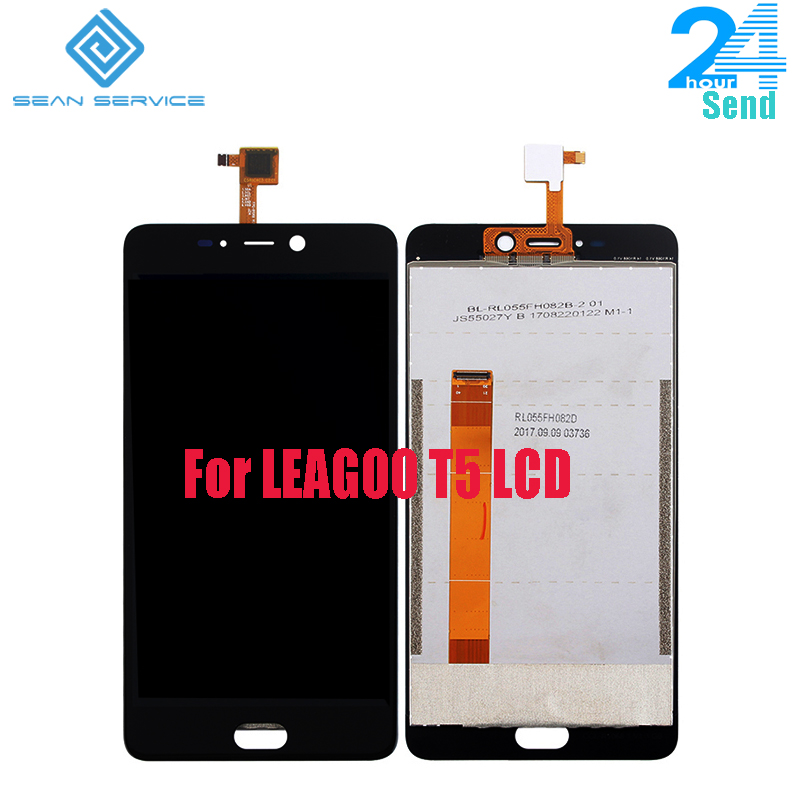 For LEAGOO T5 LCD Display and Touch Screen Assembly Repair Part 5.5 inch Phone Accessories For 100% Original LEAGOO T5