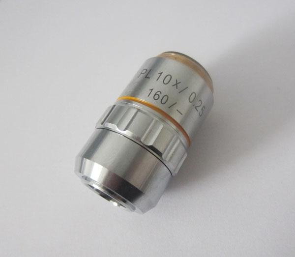 195 10X 0.25 Plan Achromatic Objective Lens DIN Lens for Biological Microscope pl10x 195 plan achromatic high grade microscope objective lens 10x for biological metallurgical microscopy