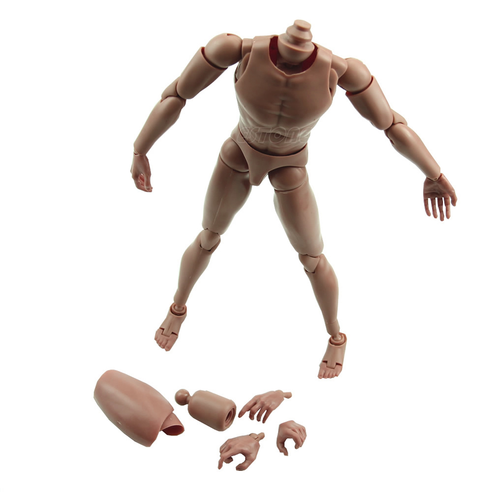 Narrow Shoulder 1:6 Scale Action Figure Nude Male Body Fit HOT Toys