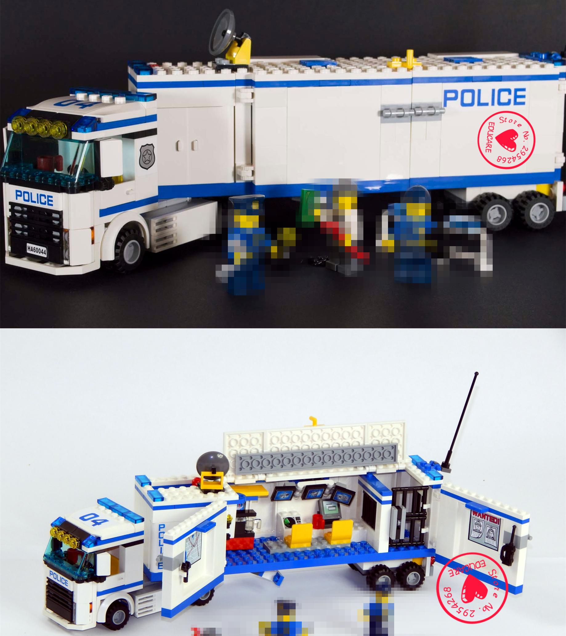 New City Police truck Station fit legoings ctiy swat police figures car diy toys model building blocks bricks toys boy gift kid