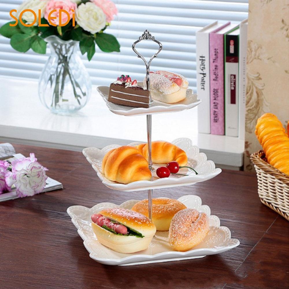 Металлическая подставка для торта с короной для свадебной вечеринки, посуда для выпечки, подставка для торта, 2/3