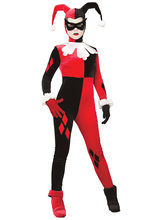 Suicide Squad Harley Quinn Jumpsuit Costume Halloween Harlequin Clown Joker Fancy Dress(China)