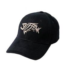 KLV Adjustable Fishbone Embroidery Baseball Cap Men Visor Hat