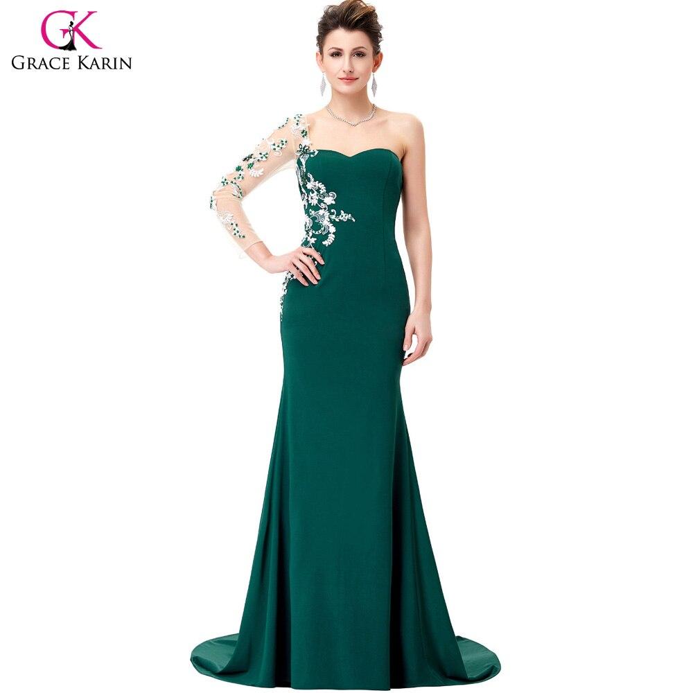 Aliexpress.com : Buy Grace Karin Mermaid Evening Dresses Long Sleeve ...