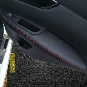 Image 2 - For Nissan Qashqai J11 2016 2017 2018 Car Door Handle Panel Armrest Microfiber Leather Cover
