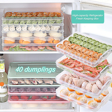 Kitchen Food Storage Container Ravioli Egg Fish Seafood Dumpling Box Microwave Refrigerator