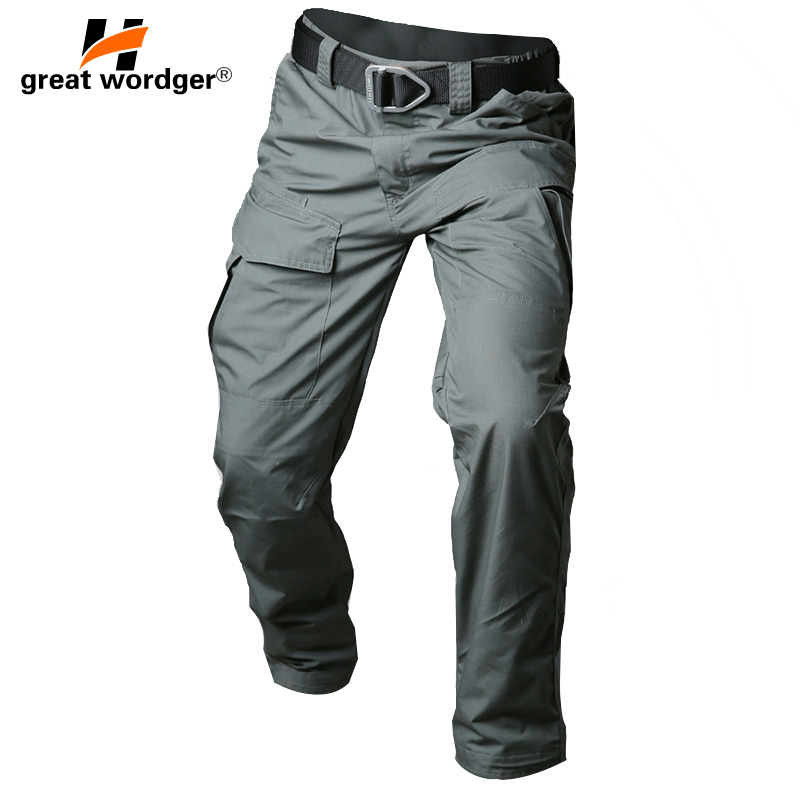 Brand Military Waterproof Tactical Cargo Pants Men Teflon Camouflage Outdoor Army Military Pants Combat SWAT Trousers
