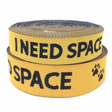 2014 NEW  wholesale 5/8+3/4(16mm+20mm 20y/lots) Polyester Woven Jacquard Ribbon For Dog Collar with yellowI need space