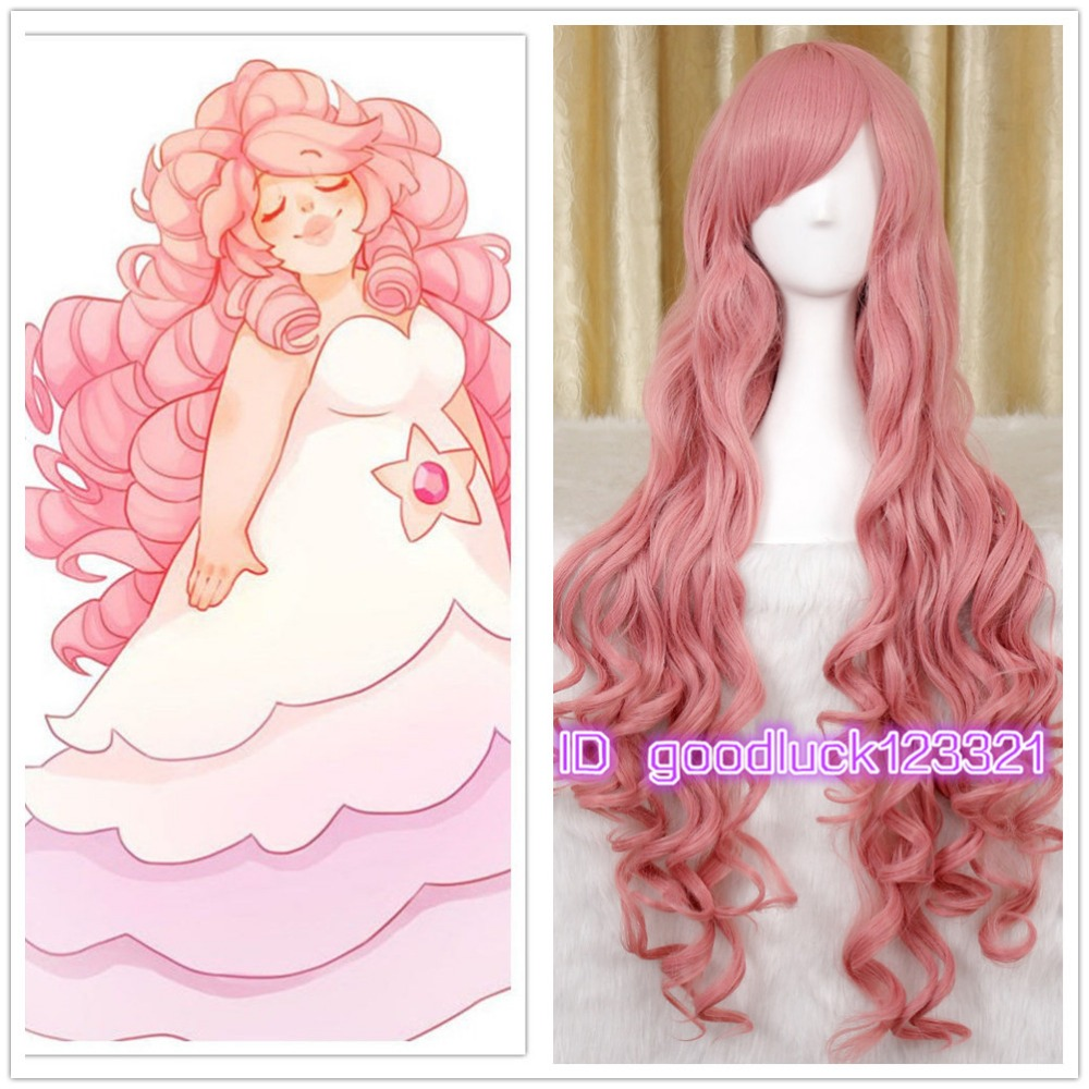 Rose Quartz Steven Universe Hair Template: Free Shipping 95cm Long Steven Universe Rose Quartz
