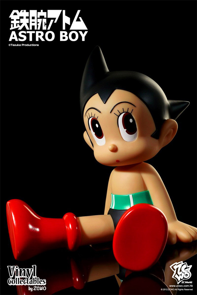 Anime Astro Boy Figure Toys 60th anniversary souvenir edition sitting position PVC Action Figures Toy