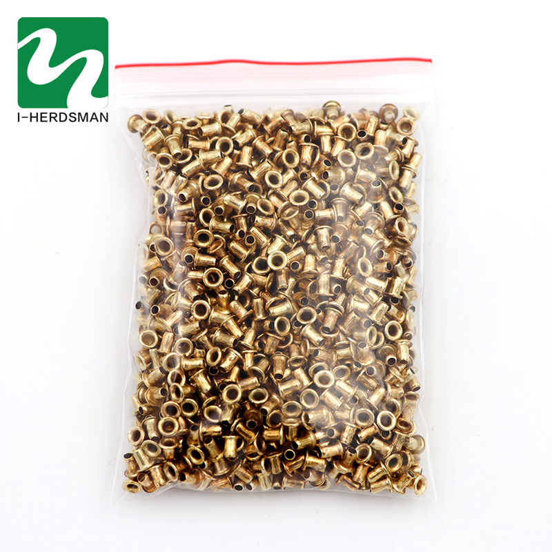 1100 Pcs Beekeeping Tools Italian Bee Beehive Nest Box Threading Hole Bees Nest Box Nest Foundation Copper Eye Hive Copper Eyes