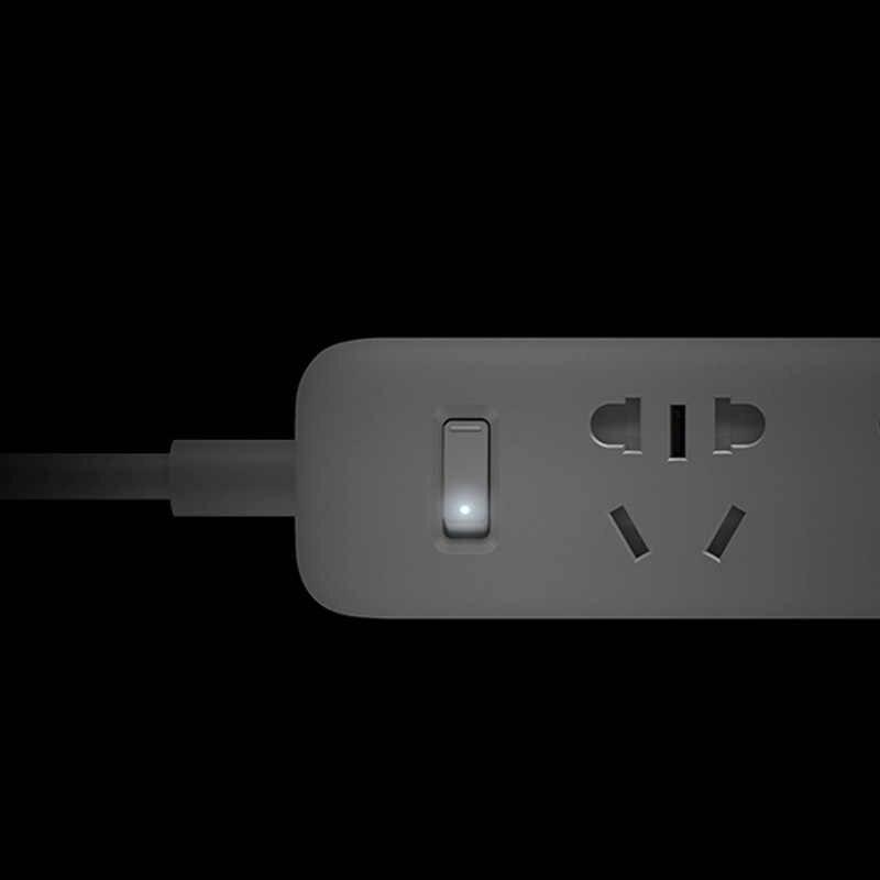 Oryginalny Xiao mi mi jia inteligentna listwa zasilająca 3 gniazda + 3 2A szybkie ładowanie portów USB Xiao mi xiaomi mi Smart Home czarny z adapterem