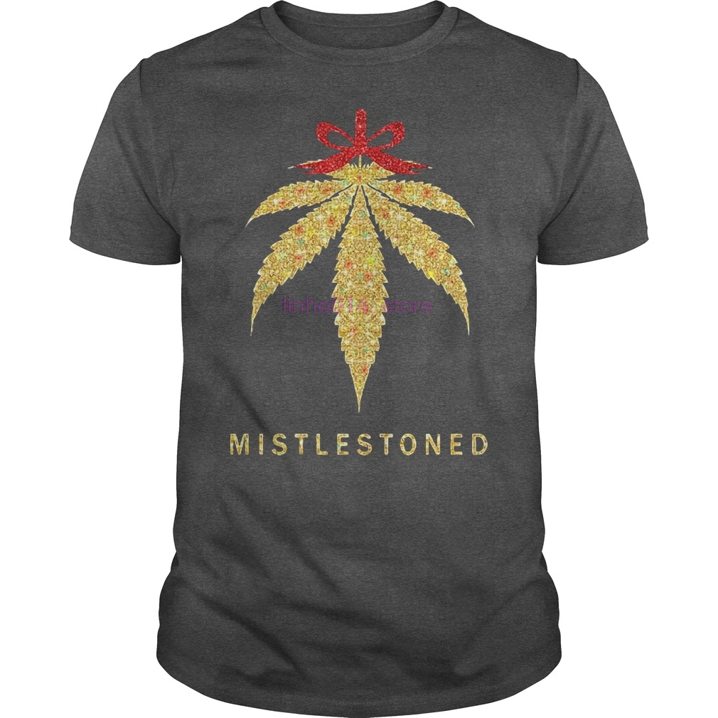 GILDAN brand men shirt Mistlestoned Weed Christmas Shirt