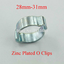 Two Ear Clamps Zinc Plated O Hose Clips (28mm-31mm)