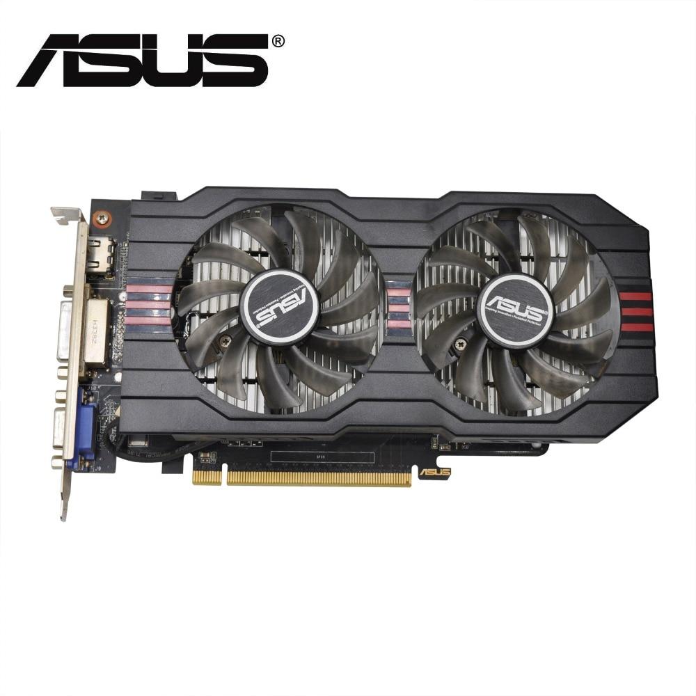 Используется, оригинальный ASUS GTX650TI GPU видеокарта 1 ГБ GDDR5 128BIT vga карта игры сильнее, чем GT630
