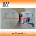 Excavator engine parts Isuzu 3LD2 piston and piston ring set