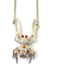 2016 free shipping Europe United States foreign trade jewelry wholesale sweater chain ShanZuan spider pendant necklace