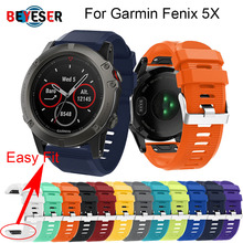 26 MM Watchband Strap for Garmin Fenix 5X  GPS Watch Quick Release Silicone Easyfit Wrist Band Strap