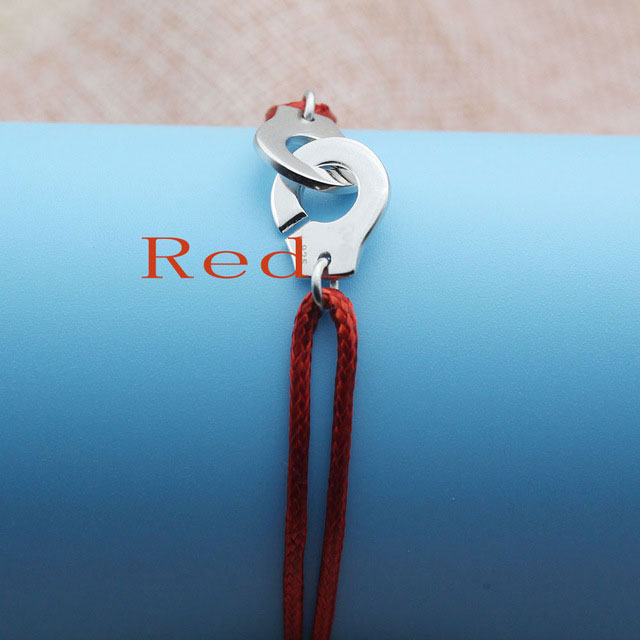 Браслет Menotte Франция Париж ювелирные изделия 925 стерлингового серебра браслет наручники для женщин с веревкой 925 Серебряный кулон Веревка Браслет - Окраска металла: Red