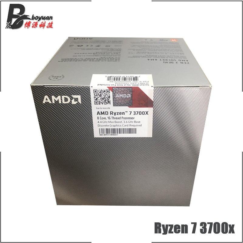 Amd Ryzen 7 3700x R7 3700x 3 6 Ghz Eight Core Sixteen Thread Cpu Processor 7nm L3 32m 100 000000071 Socket Am4 New And With Fan Aliexpress