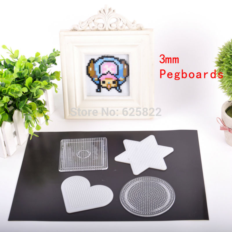 1Set=4PCS 3mm Mini Hama/Fuze/Perler Beads Pegboards DIY Kids Craft ...