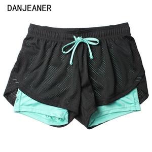 Image 1 - 2018 летние двухслойные шорты, женские обтягивающие фитнес шорты женщины эластичные повседневные шорты женские Joggings pantalones cortos mujer