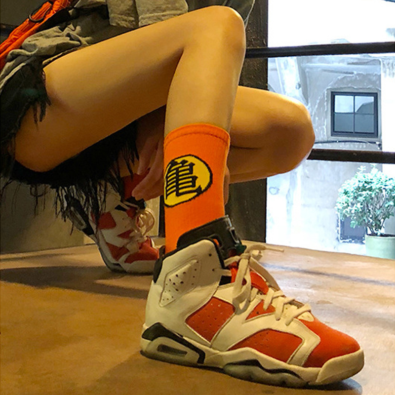 Cartoon Funny Dragon Ball Cotton Women   Socks   Casual Crew Street Skateboard   Socks   Happy Harajuku Sox Casual Personality Gifts New
