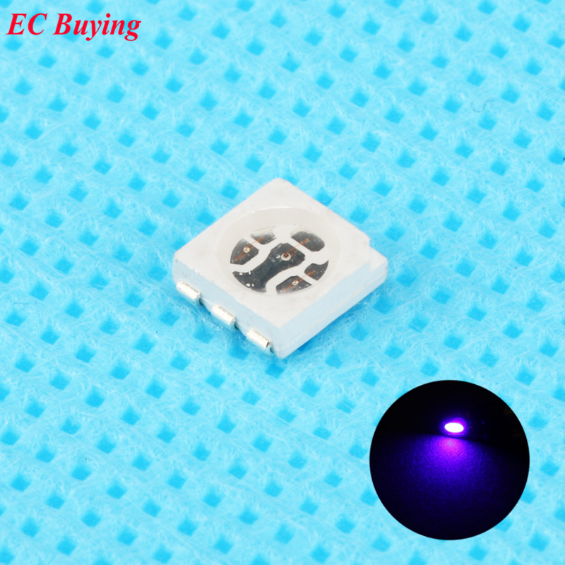 Electronic Components & Supplies Diligent 50pcs Ultra Bright 5050 Led Smd Purple Uv Chip Surface Mount 20ma Light-emitting Diode Led Smt Bead Lamp Light Diy Practice A Complete Range Of Specifications