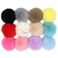 f630965fe8 Pack of 12 DIY 6cm 2.36inch Faux Fur Pompoms for Hat Rex Rabbit fur Ball