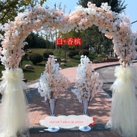 2019 artificial flowers arches wedding aisle door decoration flower road lead party stage arch stand cherry blossom
