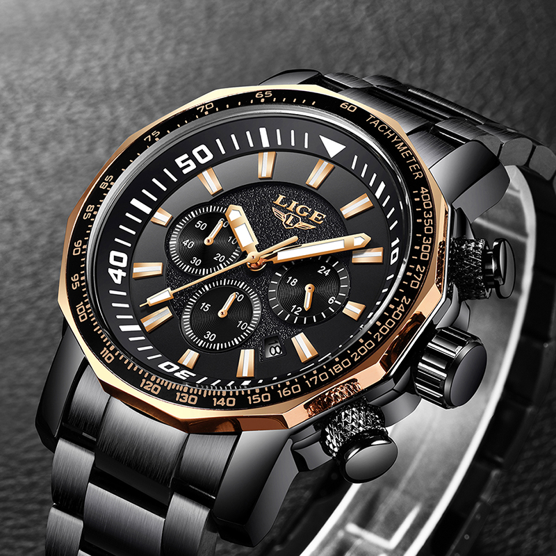 Relogio Masculino 2018 New LIGE Fashion Mens Watches Top Luxury Brand - Relojes para hombres - foto 3