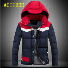 2017 Winter New Lovers Men and Women Down Cotton Padded Winter Jacket Patchwork Fashion Winter Coats Outwear 10off