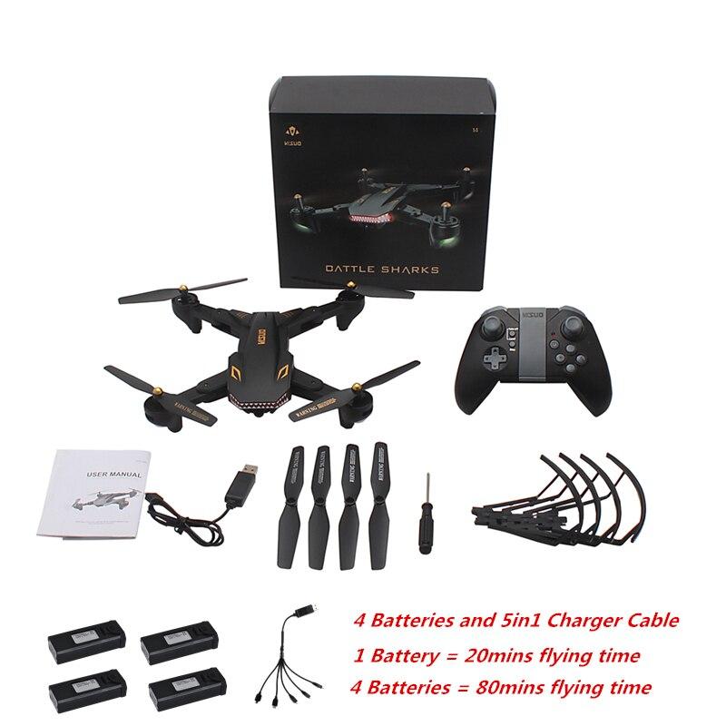 VISUO XS809S Pieghevole Selfie Drone FPV Drone con la Macchina Fotografica HD 20 minuti di volo XS809HW Aggiornato Dron RC Quadcopter Elicottero VS e58