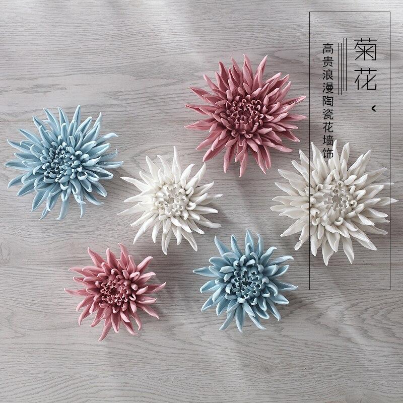 Wall Decoration Handicraft : Aliexpress buy chrysanthemum decorative wall flower