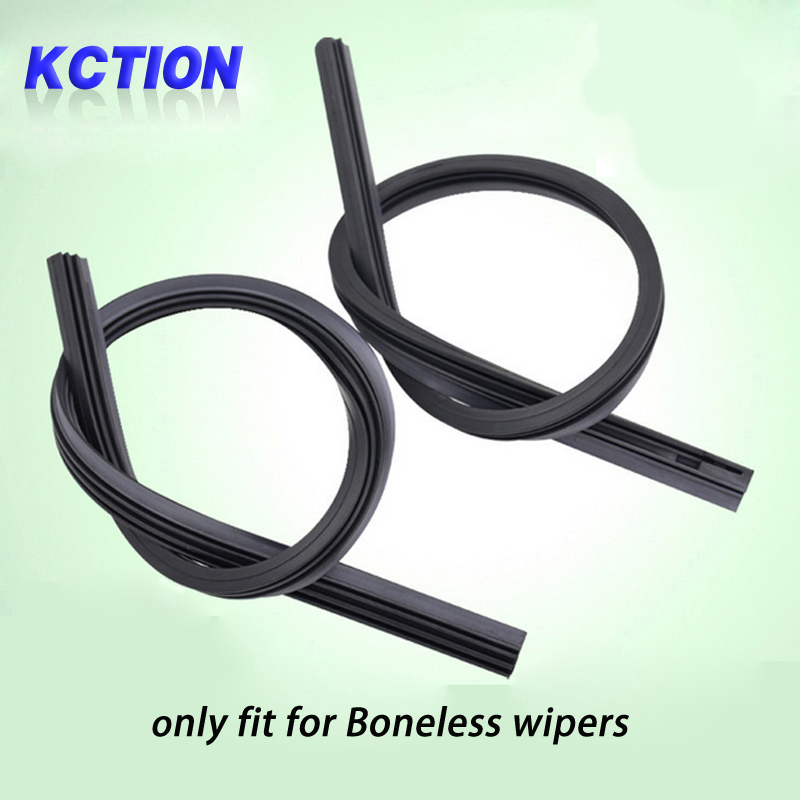 KCTION 1pcs Diy car wiper blade Strips,soft wipers rubber,Boneless - Auto Replacement Parts