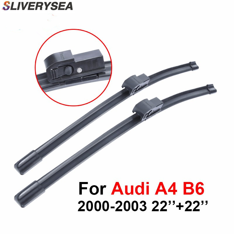 SLIVERYSEA Wiper Blade For Audi A4 B6 2000 2003 22''+22