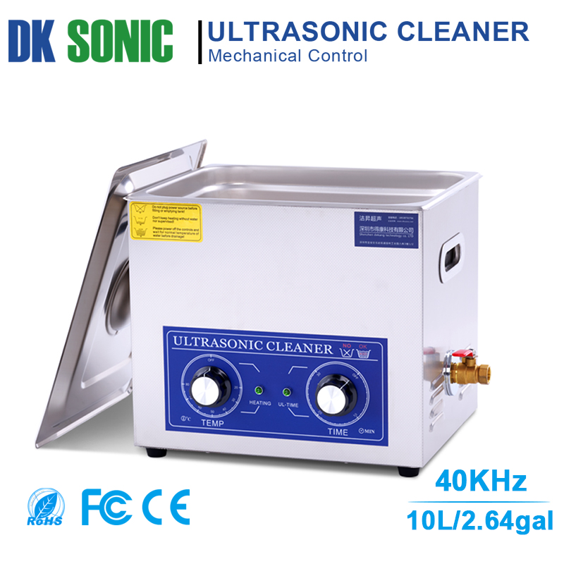240W 10L PS 40 Stainless Ultrasonic Gun Cleaner with Heater Timer Ultrasound Washer for Bullets Shell Hardware PCB Metal Parts