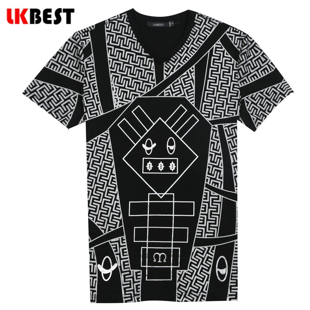 Shirt design images 2017 - Lkbest 2017 New Design Short Sleeves Men S T Shirts High Quality Character Cotton V Neck