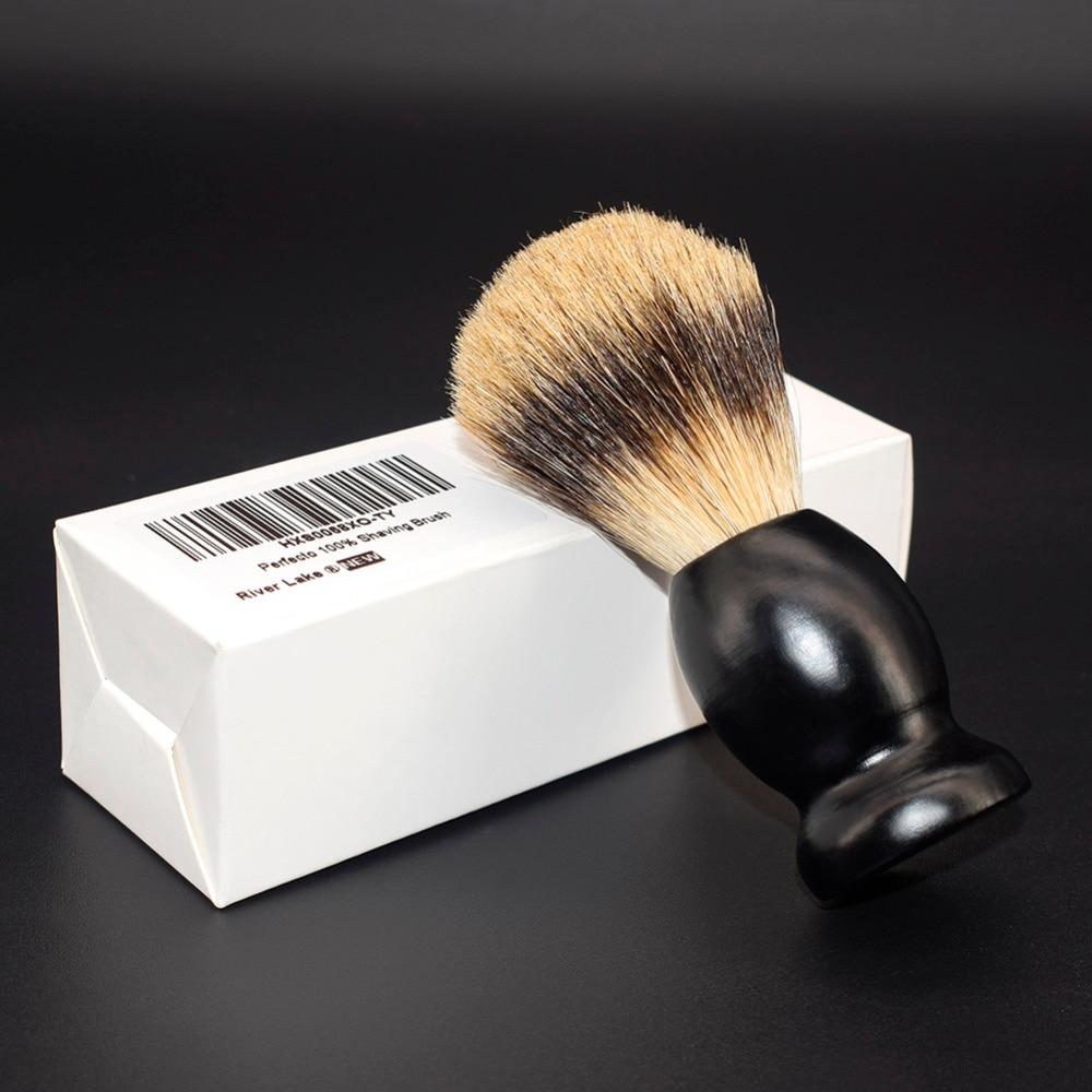 High Quality Shaving Brush Horse Goat Hair Solid Wood Handle Mens Shaving Brush For Men's Beard Shave Tool Shaving Razor Brush